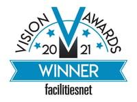 FacilitiesNet 2021 Vision Awards Winner logo