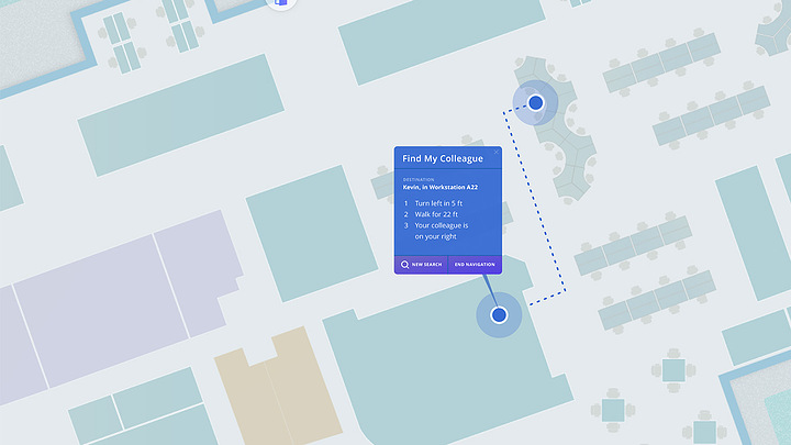 Screenshot of Indoor Location Sharing - Jibestream