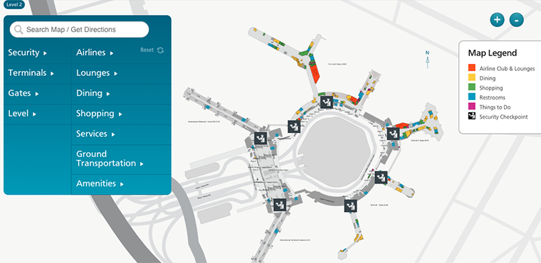 SFO Interactive Maps Powered by Jibestream