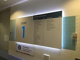 Indoor Navigation - Sparse Hospital Signage