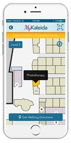 Kaleida Health Mobile App - Indoor Hospital Navigation