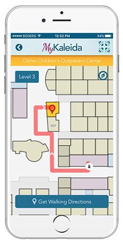 Kaleida Health Mobile App - Turn-by-Turn Wayfinding