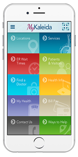 Kaleida Health Mobile Healthcare App - MyKaleida