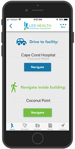 Lee Health Hospital App - Outdoor and Indoor Directions
