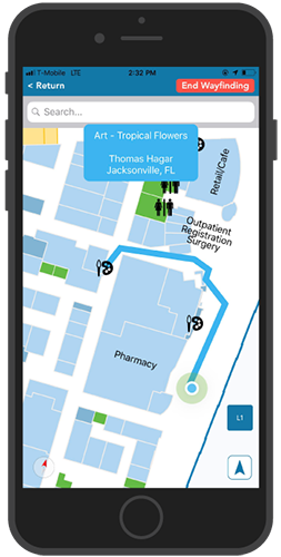 Lee Health Hospital Mobile App - Real-Time Navigation