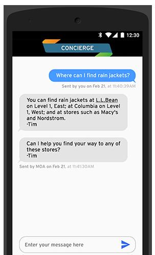 Mall of America Mobile App - Digital Concierge