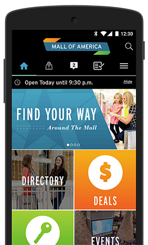 Mall of America Mobile App - Real-Time Navigation