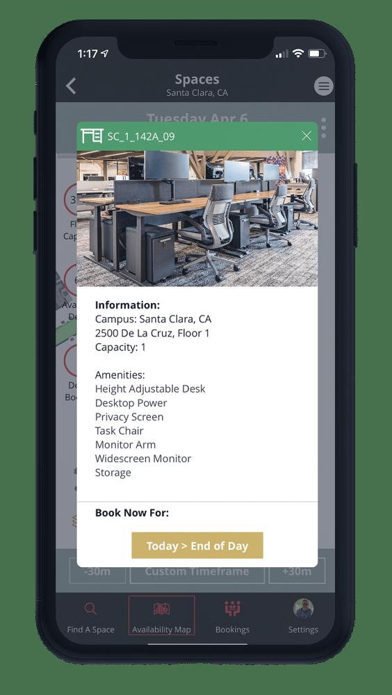 One Workplace Employee App - Desk Booking
