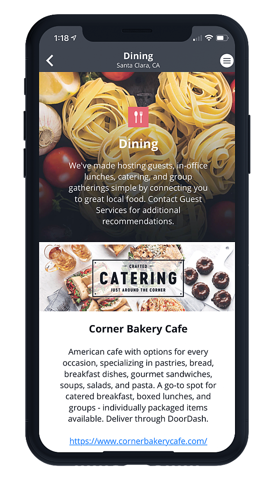 One Workplace Employee App - Dining
