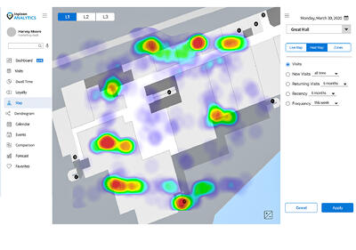 Inpixon Analytics - Heat Map