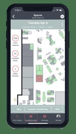 One Workplace Employee App - Floorplan and Capacities