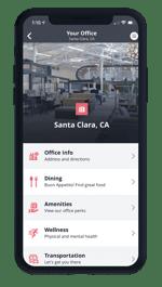One Workplace Employee App - Office Info & Perks
